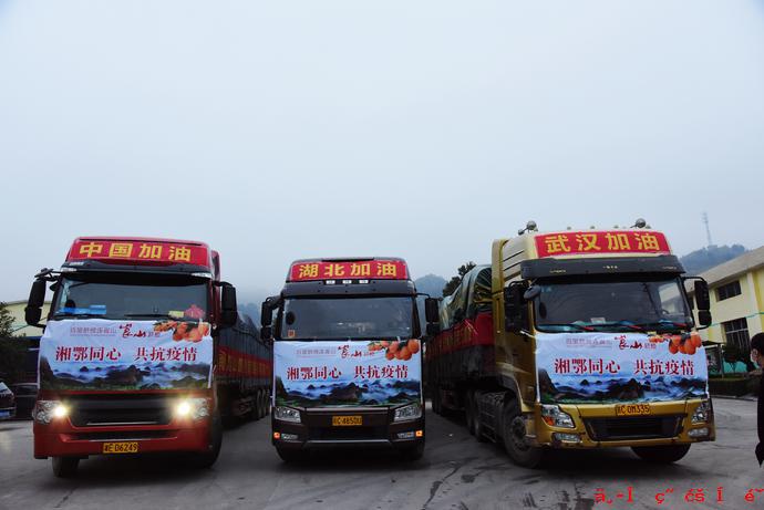 邵阳新宁12万斤爱心脐橙捐赠武汉