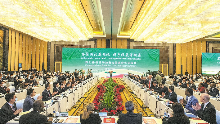 外宾荟聚 湖北省拉美和加勒比国家合作交流会在汉举行